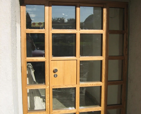 Entrance Door – Solid European Oak c/w stainless steel hardware