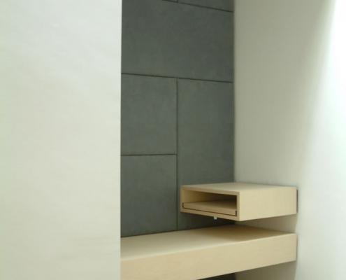 Laptop Bench and Padded Wall