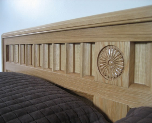 Solid Oak Bespoke Bed 02